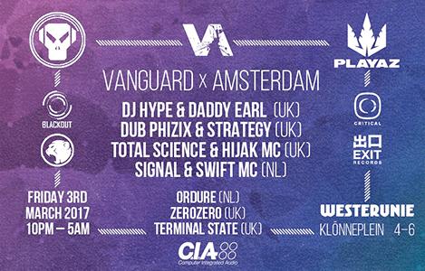 Vanguard x Amsterdam - DJ Hype, Dub Phizix, Total Science + more
