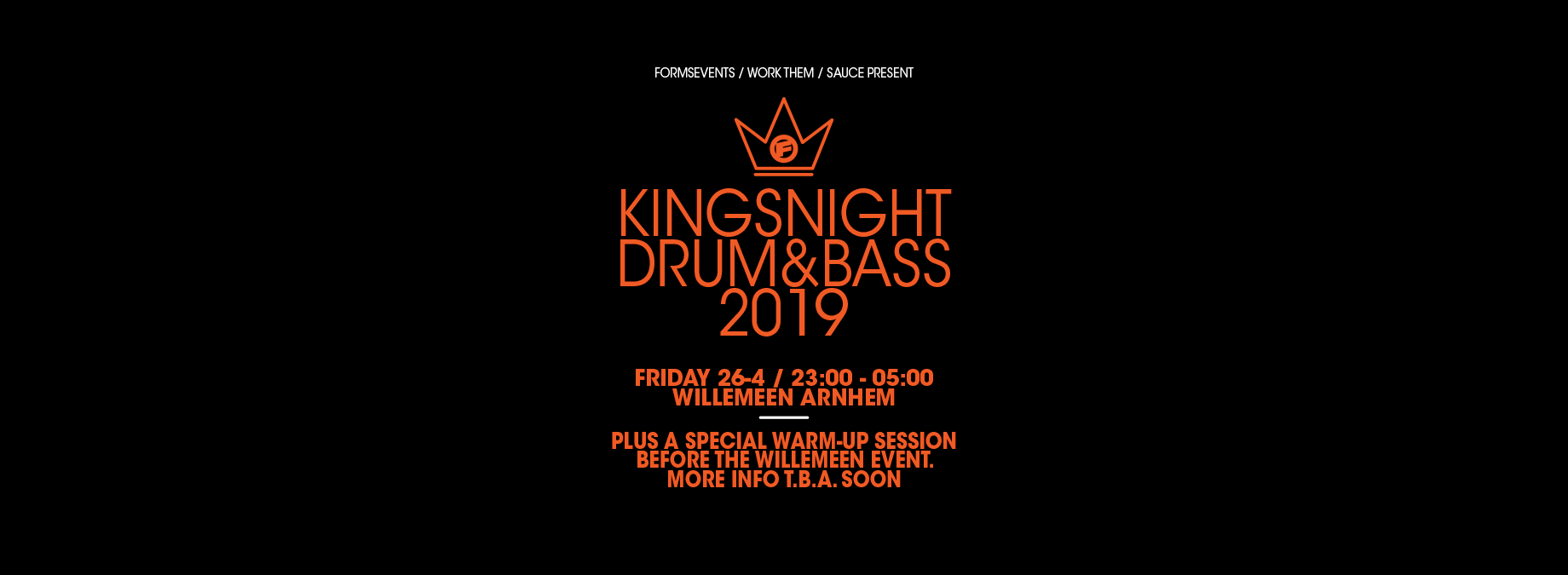 FORMS present 'The King Of Bass' 2019 / 2 DAYS