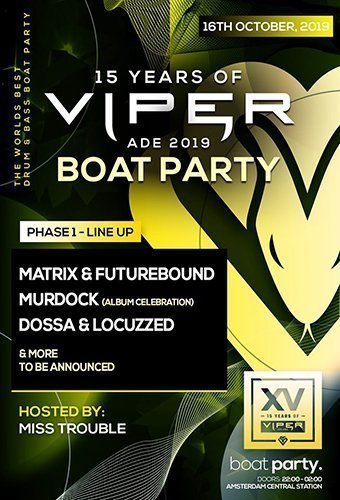 ADE: 15 Years of Viper (BOAT PARTY)