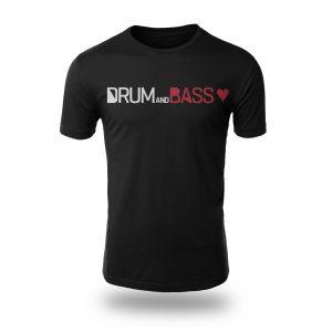 Drum and Bass Love T-shirt (rectangular)